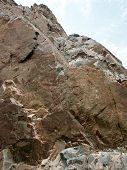 foto of lithosphere  - metamorphic rock at buffalo bill dam - JPG