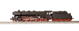 picture of loco  - steam loco model isolated over white background - JPG
