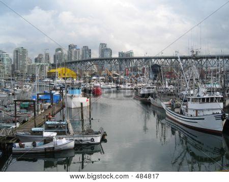 poster of City Harbor Fishing Boats