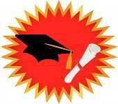 pic of senior prom  - Seal of approval on your Graduation with cap and diploma - JPG