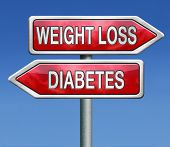 stock photo of crossroads  - weight loss or diabetes prevention and treatment overweight diet for diabetic adults and children dieting helps fighting this sickness - JPG