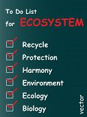 foto of ecosystem  - Vector eps concept or conceptual white chalk ecosystem text blackboard word cloud - JPG