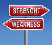 picture of fragile sign  - strength or weakness overcome fragility strong or weak road sign signpost - JPG