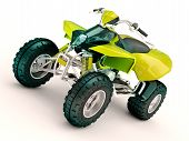 stock photo of four-wheeler  - Sports quad bike on a light background - JPG