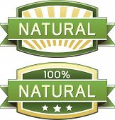 stock photo of naturel  - Natural food product and service label  - JPG