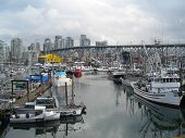 City Harbor Fishing Boats poster