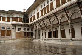 foto of eunuch  - Wet floor and palace in Harem Topkapi Istanbul - JPG