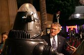 LOS ANGELES - NOVEMBER 8: Robby The Robot and Earl Holliman at the 50th Anniversary Gala Screening o