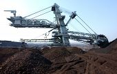 image of collier  - Surface coal digging with large rotating blades excavators  - JPG