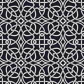 stock photo of plexus  - Seamless pattern similar to the Celtic ornament - JPG