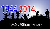 stock photo of ww2  - a 70th anniversary of D - JPG