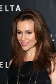 Alyssa Milano at Delta Airline's Celebration of LA's Music Industry, Getty House, Los Angeles, CA 02
