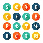 picture of shekel  - Money icons creative colorful set - JPG