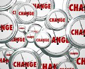 picture of pass-time  - Change word clocks passing evolution innovation alter - JPG