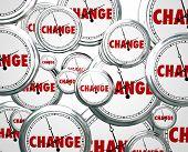stock photo of evolve  - Change word clocks passing evolution innovation alter - JPG