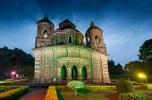 image of radha  - Shyamroy Temple Bishnupur India - made of terracotta (baked clay) - world famous tourist spot.