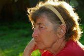 Senior Woman Portrait poster
