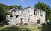 pic of 1700s  - rebuilt old sugar mill from the 1700s in industry bay bequia st - JPG