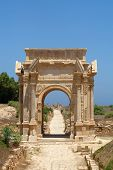 foto of libya  - Beautiful view of Arch of Septimus Severus Leptis Magna Libya - JPG