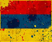 image of armenia  - Grunge Armenia flag with stains  - JPG