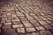 picture of cobblestone  - A cobblestone road in Dublin - JPG