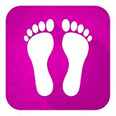 picture of flat-foot  - foot violet flat icon - JPG