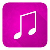 foto of christmas song  - music violet flat icon - JPG