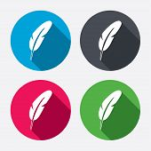 picture of light weight  - Feather sign icon - JPG