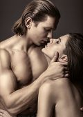 foto of intimacy  - Young beautiful couple in each other - JPG