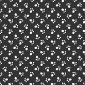 picture of footprint  - Black vector animal footprint seamless pattern  - JPG