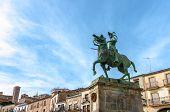 picture of conquistadors  - Francisco Pizarro statue Trujillo Caceres Extremadura Spain - JPG
