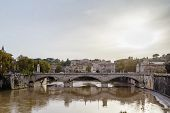 picture of emanuele  - Ponte Vittorio Emanuele II is a bridge in Rome constructed to designs of 1886 by the architect Ennio De Rossi Italy  - JPG