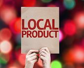 picture of recipe card  - Local Product card with colorful background with defocused lights - JPG