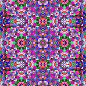 foto of symmetry  - Symmetry kaleidoscope colored glass  - JPG