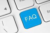 foto of faq  - FAQ button on keyboard with soft focus - JPG