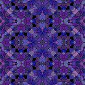 pic of kaleidoscope  - Glass mosaic kaleidoscopic seamless generated hires texture - JPG