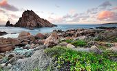 stock photo of naturalist  - Sugarloaf Rock at Sunset - JPG
