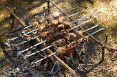 Kebab cooking poster