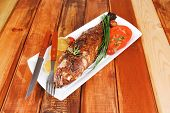 stock photo of sunfish  - savory on wood - JPG
