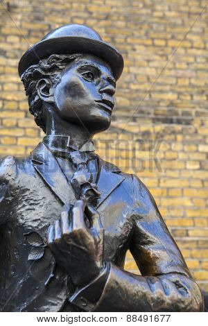 Charlie Chaplin Statue In London