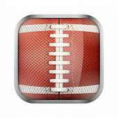 Постер, плакат: Square icon for american football app or games