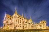 foto of hungarian  - View of hungarian Parliament building at Budapest - JPG