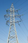 pic of voltage  - high voltage electric power lines on pylons - JPG