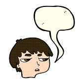 pic of annoying  - cartoon annoyed boy with speech bubble - JPG