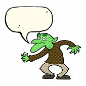 image of gremlins  - cartoon goblin with speech bubble - JPG