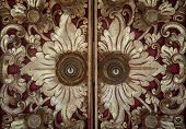 stock photo of masterpiece  - Traditional Balinese carved doors - JPG