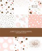 stock photo of confetti  - A set of 9 Confetti - JPG