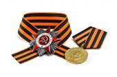 pic of victory  - Soviet military medal in honor of a victory in war against Germany 1941 - JPG