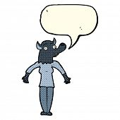 foto of werewolf  - cartoon werewolf woman with speech bubble - JPG