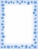pic of forget me not  - Beautiful blue spring flowers on cool blue background cute floral border - JPG